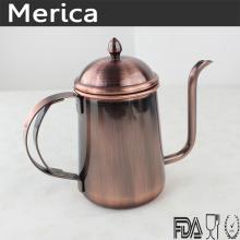 Hervidor de café de acero inoxidable de bronce