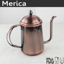 Stainless Steel Copper-Colored Pour Over Coffee Pot
