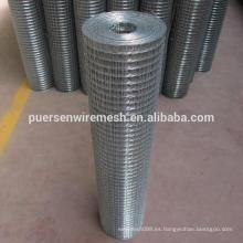 Fabricación de malla de alambre soldado con agujero cuadrado galvanizado