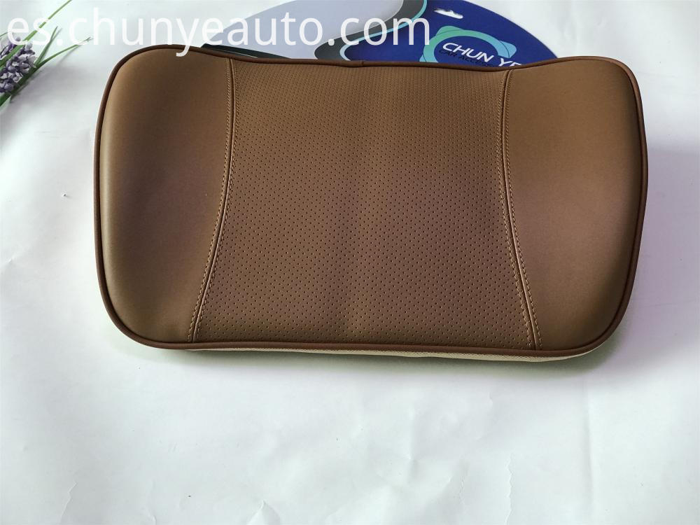 genuine leather car seat lumbar support