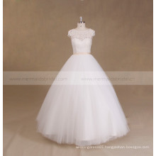 Cheap Lace Beaded Corset Wedding Dress Ball Gown
