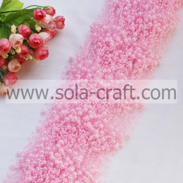 3+8MM Light Pink Imitation Faux Pearl Beaded Garland