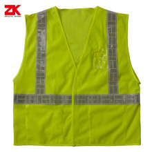 Mesh safety vest dengan pocket poket PVC