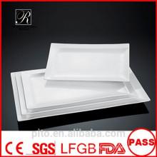 P & T керамика завод, белый фарфор пластины, прямоугольные пластины, свадебные пластины