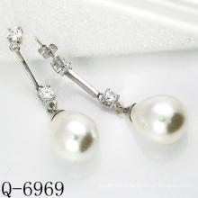 Derniers styles Boucles d'oreilles perles cultivées Argent 925 (Q-6969)