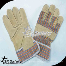 SRSAFETY Cheap Industrial safety leather glove