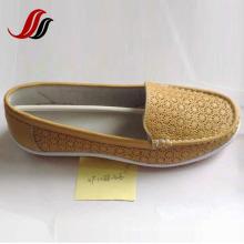 Últimas mulheres Loafer sapatos lazer couro sapatos (XF1088-39)