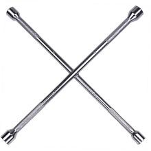 Cross Rim Wrench Totalmente polido Knurling Handle