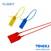 Sello de seguridad de plástico ajustable de alta resistencia con logotipo o números impresos