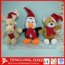 Juguetes lindos y rellenos del animal de la felpa de las ventas al por mayor para la Navidad