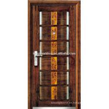 Puerta blindada de madera de acero a prueba de sonido, con marco de puerta antirrobo, puertas blindadas personalizadas