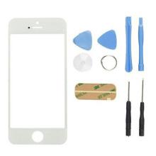 GS reemplazo de piezas de repuesto de vidrio frontal para iPhone 5s blanco y negro