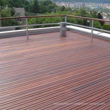 Plancher de terrasse en bois solide d'IPE de patio extérieur affligé par approvisionnement d'usine