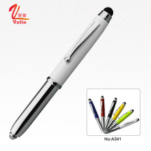 Лучшая рукописная ручка Светодиодная металлическая шариковая ручка на продажу