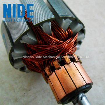 Automatic armature commutator spot welder hot staking machine