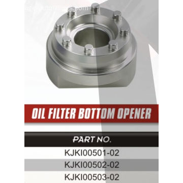 Specified oil filter bottom opener