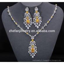 ZheFan gros bijoux de mariée indiens ensembles avec zircone cubique