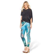 Knee Length Women Wholesale Custom Sublimation Print Leggings