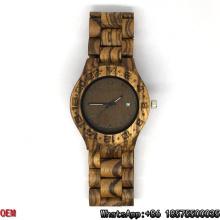 Relógios De Zebra De Madeira De Alta Qualidade Data De Quartzo Relógios