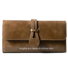Wholesale Top Quality PU Leather Straight Panel Purses (ZX10154)