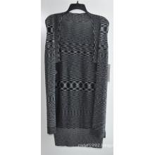 Long Sleeve Opean Patterned Knitwear Cardigan for Women