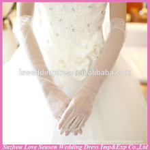 WG0001 new arrival simple long tulle arm covered wedding bridal gloves