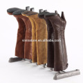 New upgraded 3 to 4 Pair Boot Organizer, Standing Gray Boot Rack