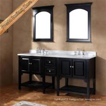 2016 Double Sink Solid Wood Floorstanding Bathroom Vanity
