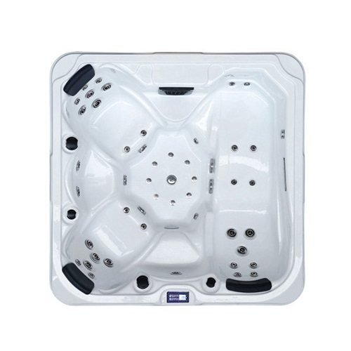 High quality H-5315 3seat backyard massage hydropool therapy hot-tub surfing and bubble nuzzle bathtub
