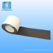 cinta reflectante negra para la ropa