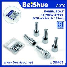 Hot Sale 4+1 PCS Carbon Steel Wheel Hub Bolt Set