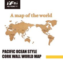 Custom fashion cork Wall Decoration Map