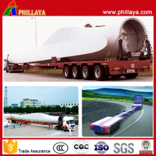 Wind Leaf 45m Length Tower Lowbed Truck Semi Extendable Trailers