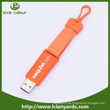 Beliebte Mode Polyester USB-Lanyards benutzerdefinierte Logo Lanyard usb