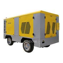 APCOM 20bar portable diesel engine compressor screw air compressor diesel 800cfm mining diesel compressor with jack hammer
