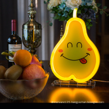 Low price custom Table light LED Neon table lamp  Pvc LED Touch Bedside Home desk Lamp