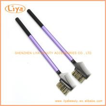 Пластиковая ручка ресниц гребень кисти с волосами, нейлон