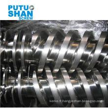 Double vis parallèle bimétallique pour extrudeuse PVC (WPC)