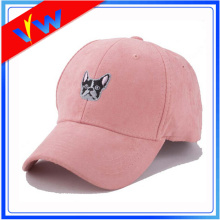 Custom Embroidery 6 Panel Hat Suede Baseball Cap