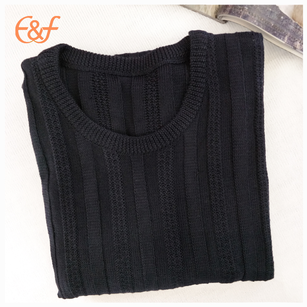 Mens all black sweater