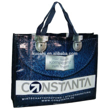 2018 China supplier wholesales for promotional custom pp woven bag with button