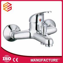 Polished Chrome Ceramic cartridge wall mount bathtub mixer shower hose bathtub faucet mixer hot cold water shower