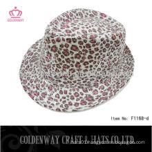 Cheap leopard print Trilby Hat