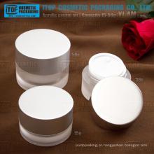 Jarra de acrílico Série YJ-AM creme com alumínio tampa cilindro clássica forma 15-50g de natas acrílico jar