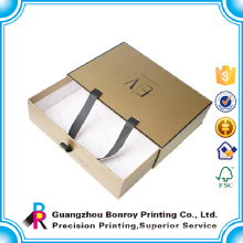 Top sale portable custom garment boxes with handles