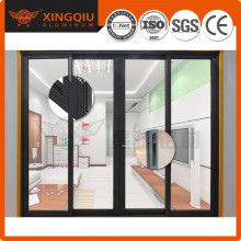 China supplier good sealing aluminum frame glass double entry door