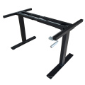Adjustable height office table frame in 2 legs with manual crank height adjustable laptop desk frame