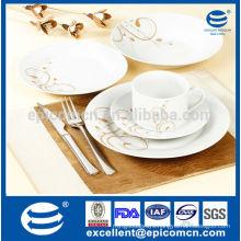 durable kitchen utensils new bone China wholesale with yellow flower