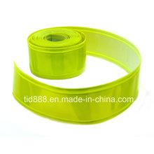 Matériau réfléchissant jaune fluorescent vert pour faire le gilet de sécurité