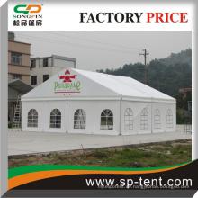 Klare Spannrahmen permanente Zelt mit Glastür und Luxus-Lining